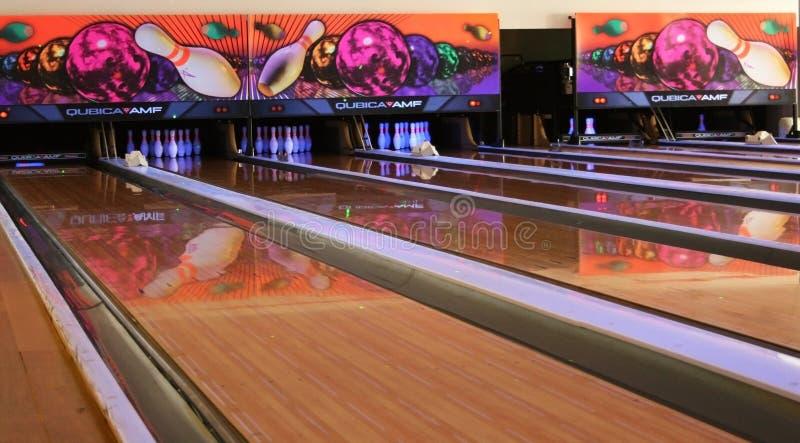Ruelle de bowling images stock
