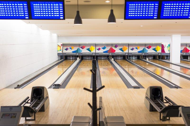 Ruelle de bowling images libres de droits