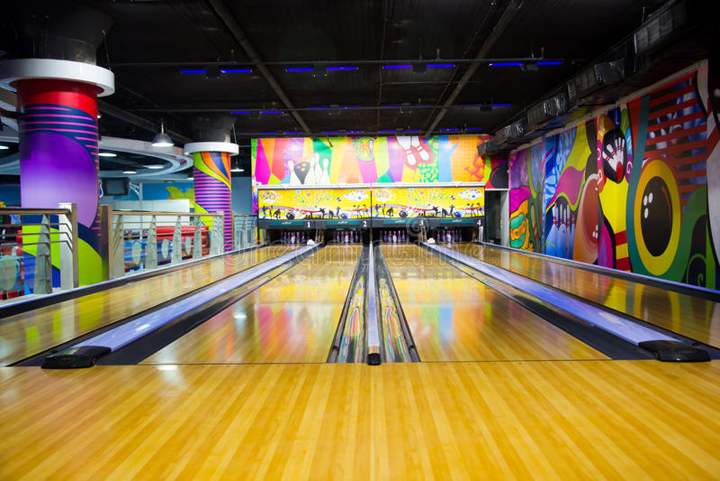 Ruelle de bowling photographie stock