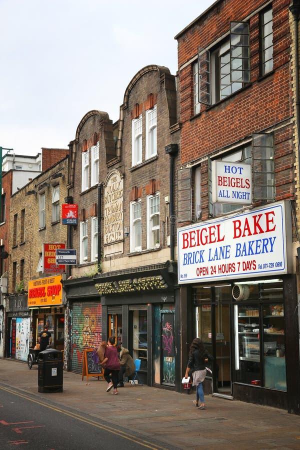Ruelle de brique de Londres photographie stock libre de droits