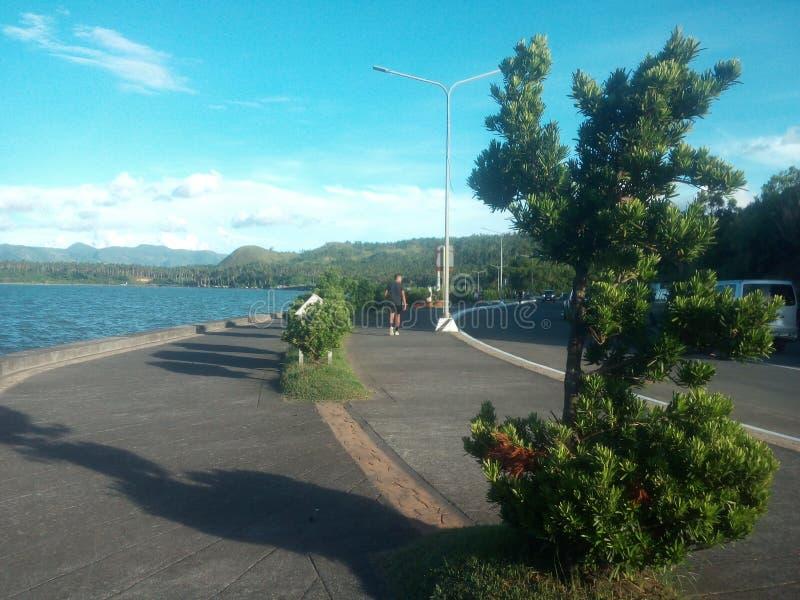 Ruelle de cyclistes au boulevard de Legazpi photos stock