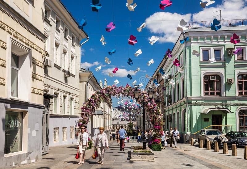 Ruelle de Kamergersky au centre de Moscou photos libres de droits