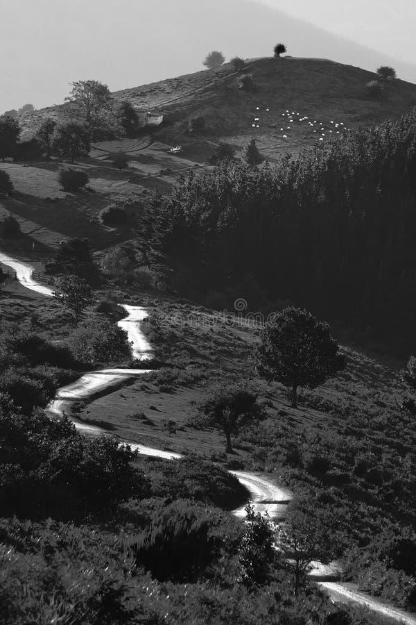 Ruelle de route à Garrastatxu photographie stock