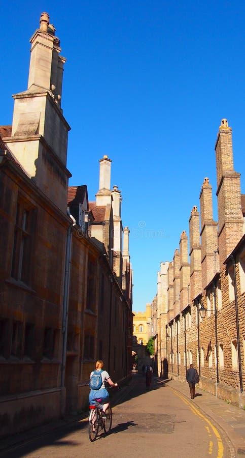 Ruelle de trinité à Cambridge, Angleterre image libre de droits