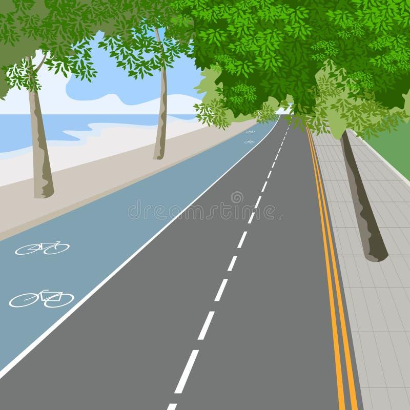 Download Ruelle de vélo illustration stock. Illustration du path - 56475655