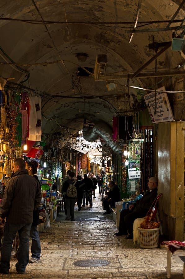 Ruelle du marché de ville de Jérusalem image libre de droits