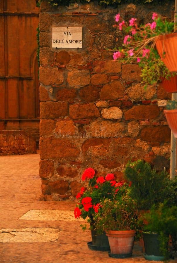 Ruelle en Toscane photos stock
