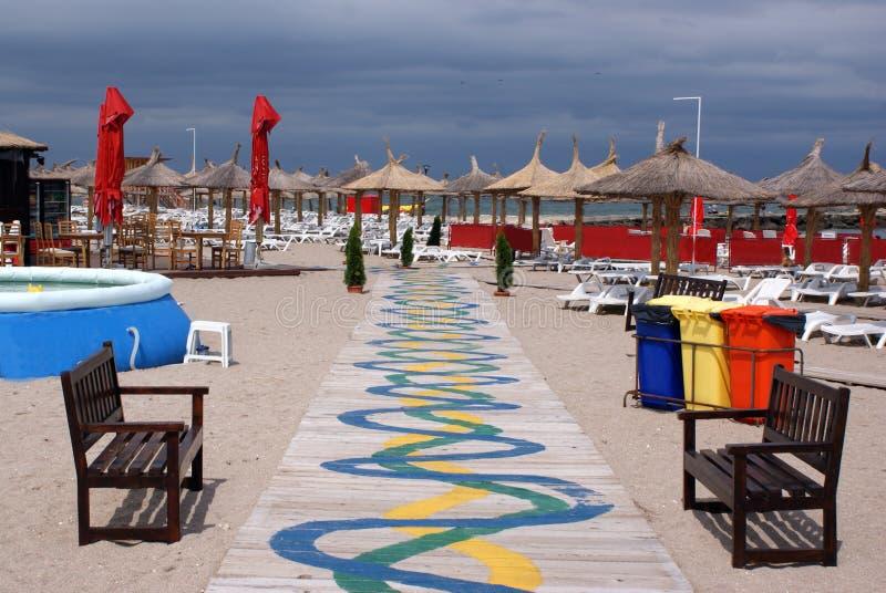 Ruelle sur la plage image libre de droits