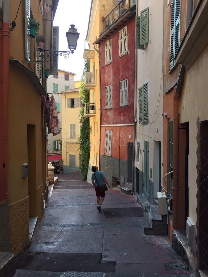 Ruelle trevliga Frankrike franska Riviera arkivbild