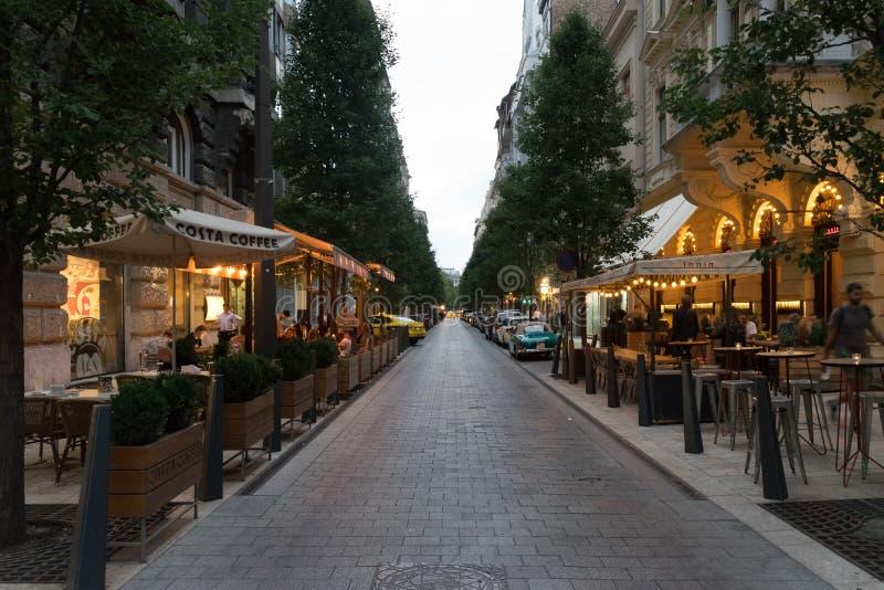 Rues à Budapest, Hongrie photographie stock