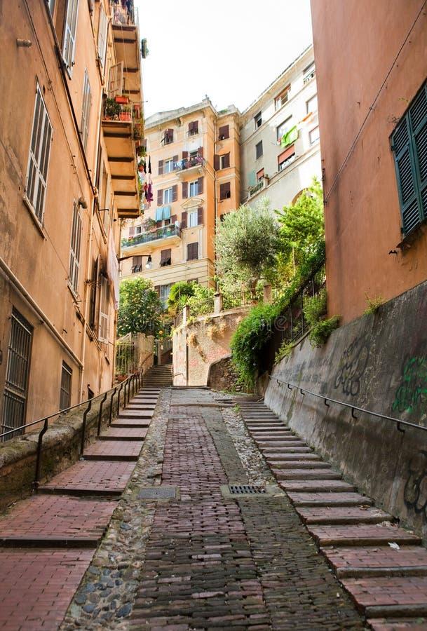 Rues à Gênes photo stock