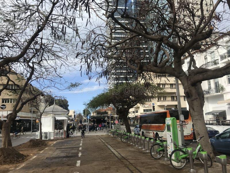 Rues à Tel Aviv photo stock