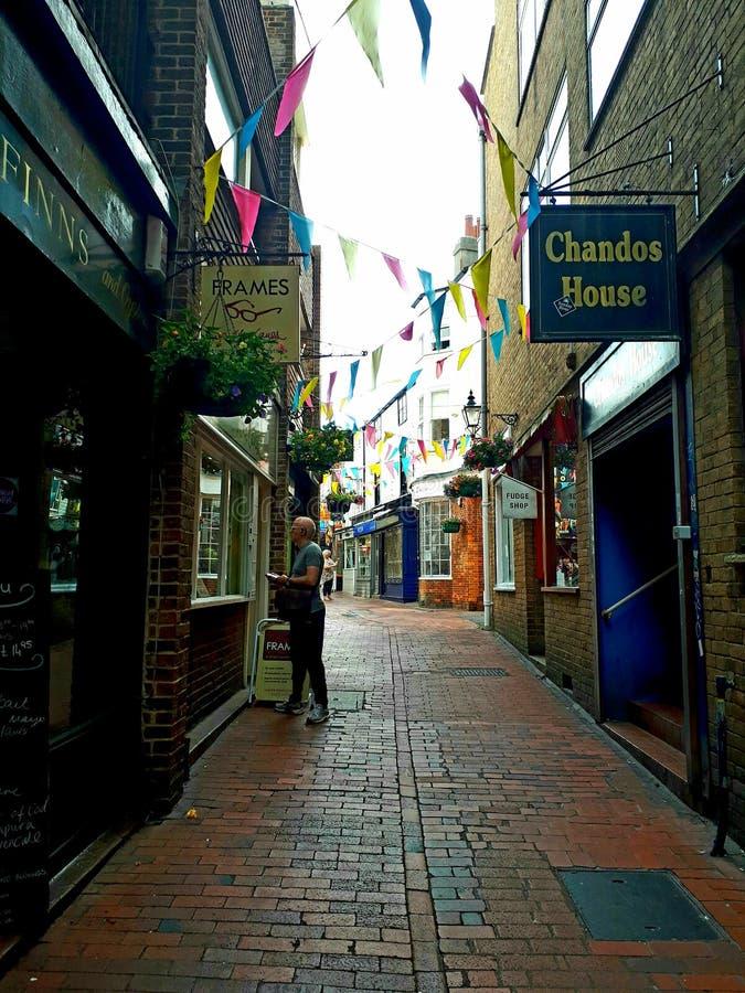 Rues étroites de Brighton photo stock