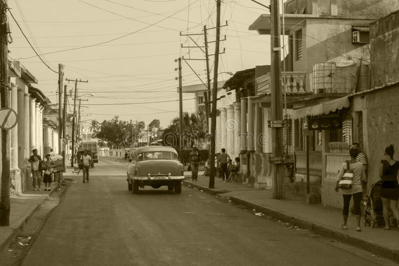 Rues au Trinidad, vrai Cuba photo stock