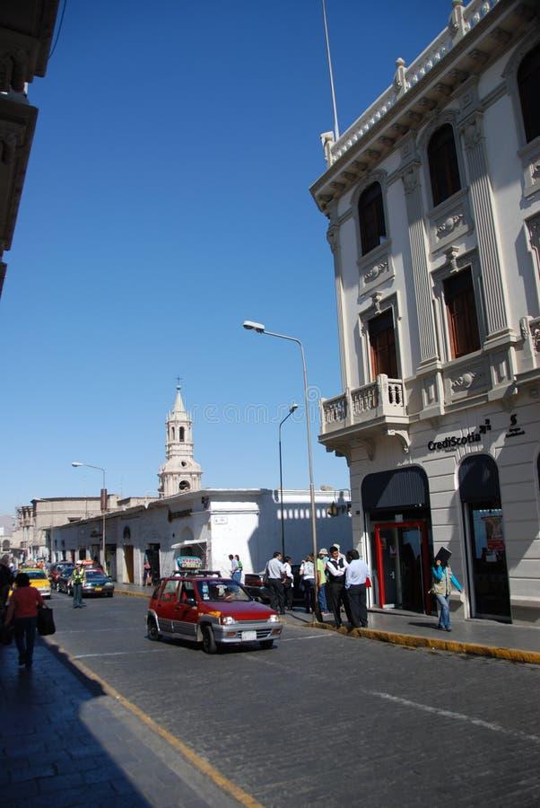 Rues coloniales de Lima, Pérou photo stock