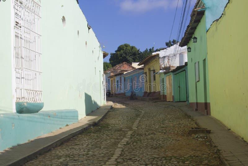 Rues colorées du Trinidad au Cuba image stock