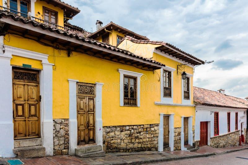 Rues color?es Bogota Colombie de Candel?ria de La photo libre de droits