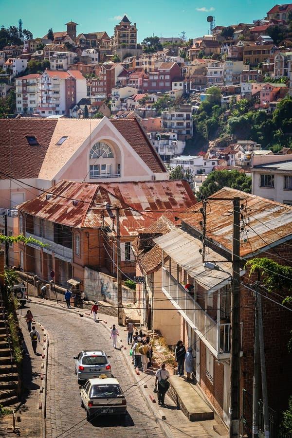 Rues d'Antananarivo photographie stock libre de droits