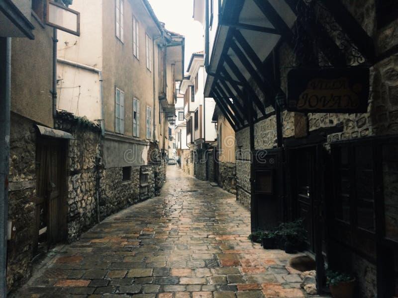 Rues d'Ohrid image stock