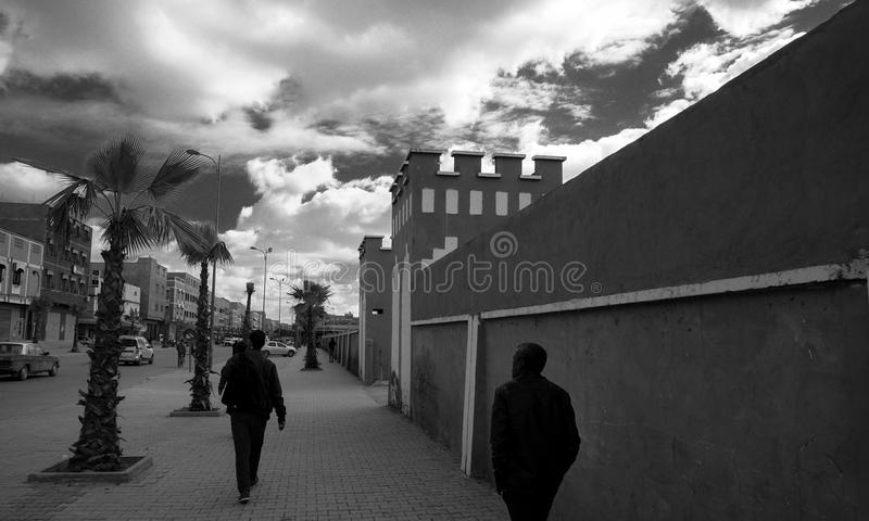 Rues dans Biougra, Agadir, Maroc image libre de droits