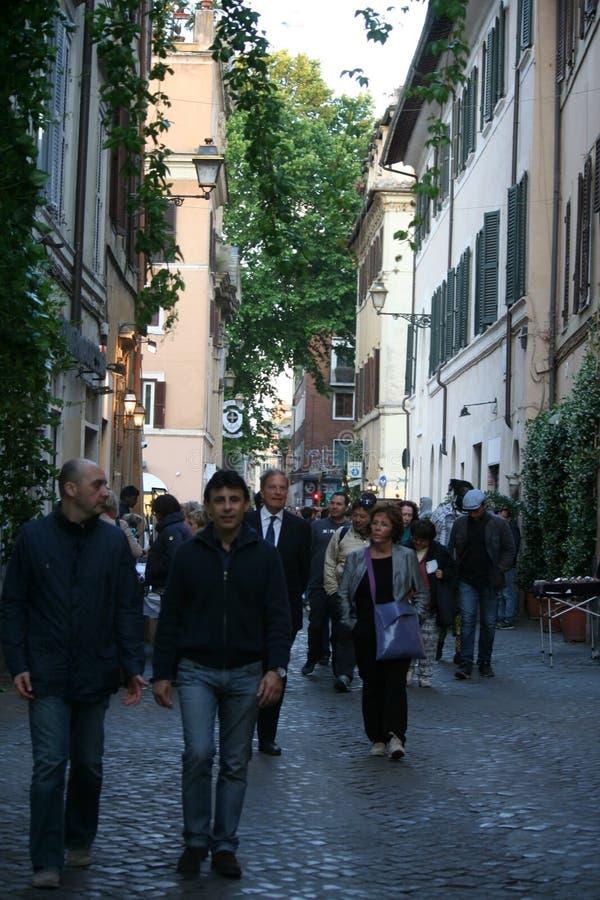 Rues dans Trastevere images stock