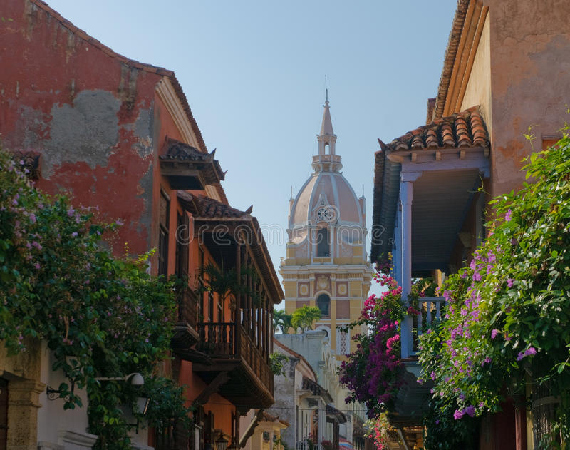 Rues de Carthagène, Colombie photos stock
