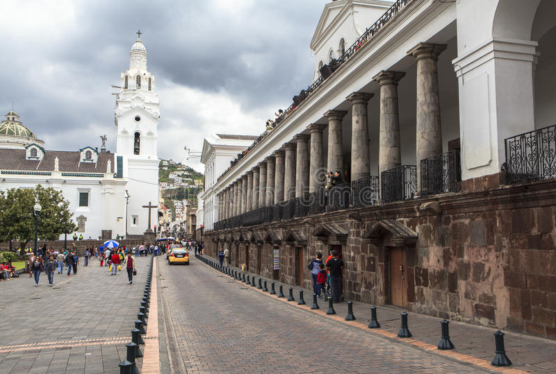 Rues de central de Quito, Equateur photo stock