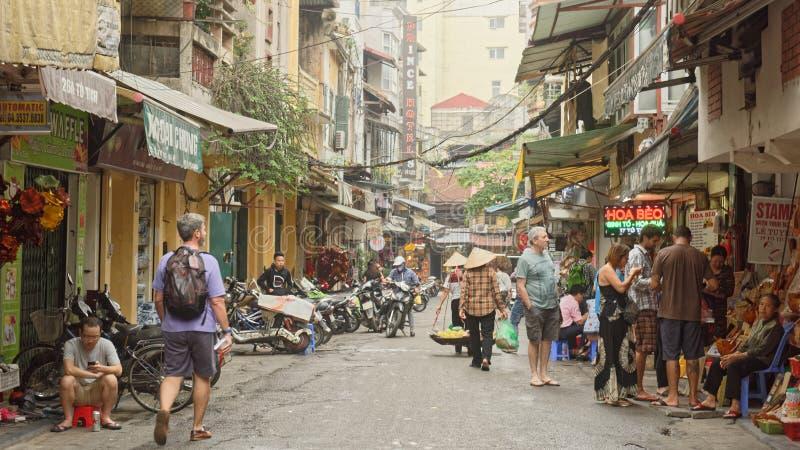 Rues de Hanoï images stock