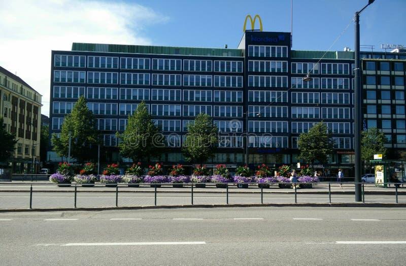 Rues de Helsinki photographie stock