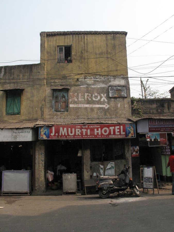 Rues de Kolkata J Hôtel de Murti photo libre de droits