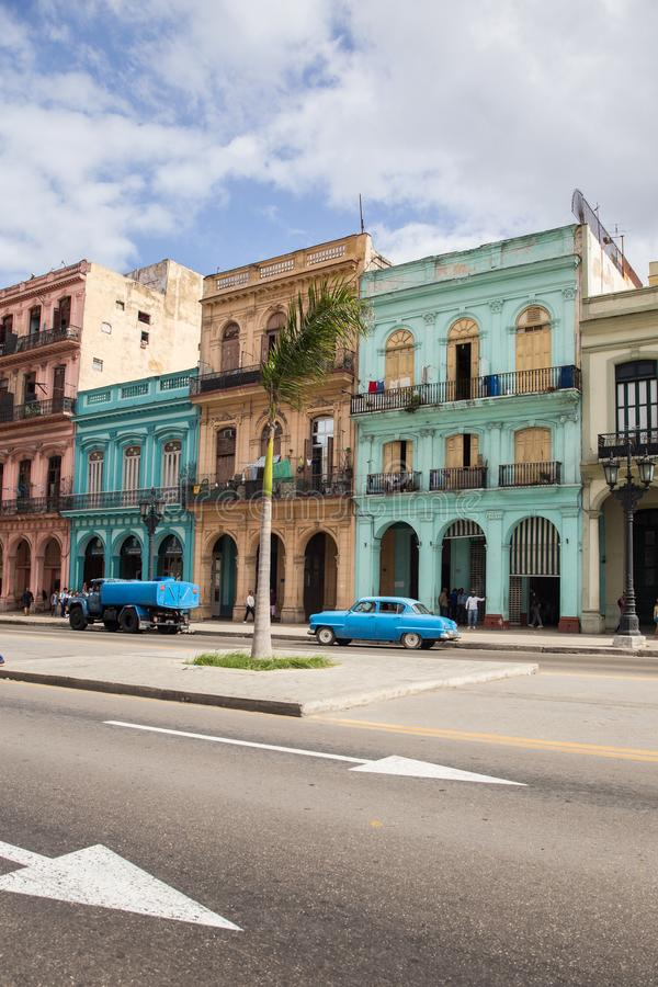 Rues de La Havane images libres de droits