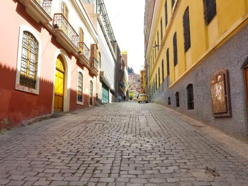 Rues de La Paz, Bolivie au centre de la ville image stock