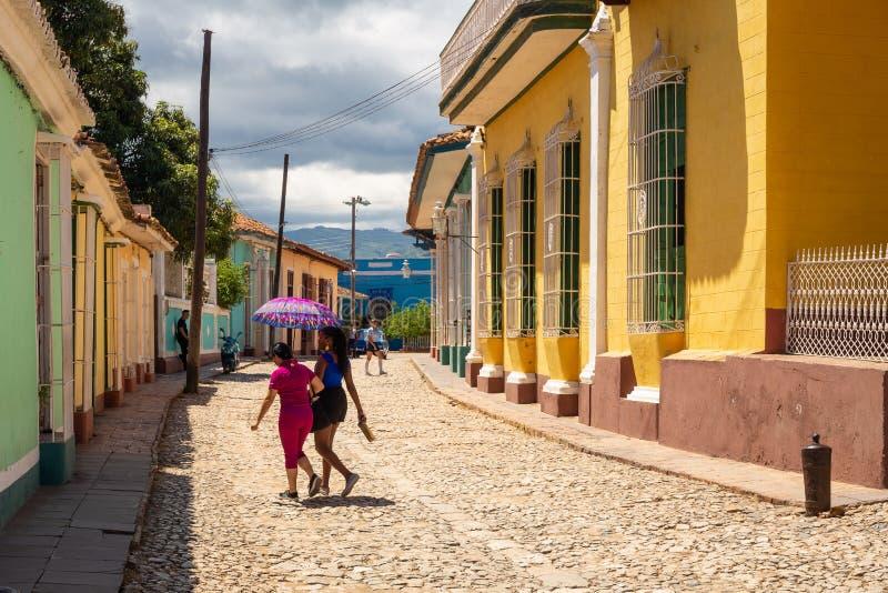 Rues de la ville du Trinidad au Cuba photos libres de droits