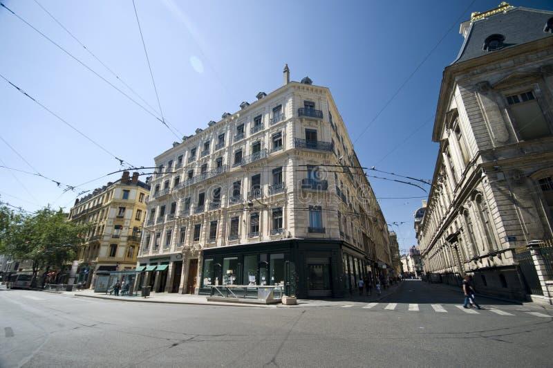 Rues de Lyon image libre de droits