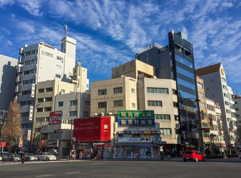 Rues de m?tropole de Tokyo, Japon image libre de droits