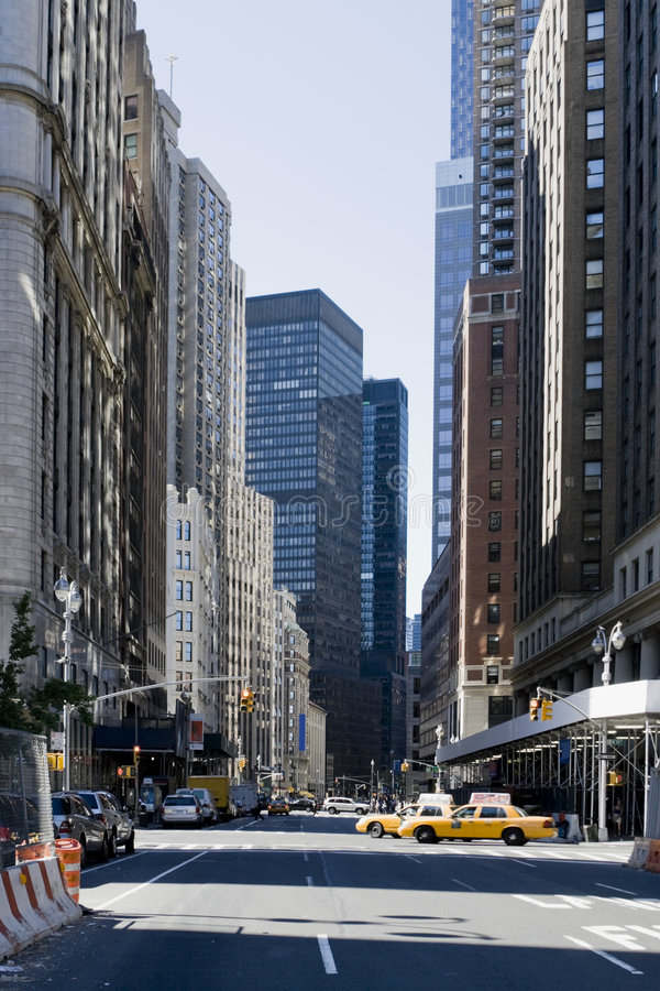 Rues de New York City photo libre de droits