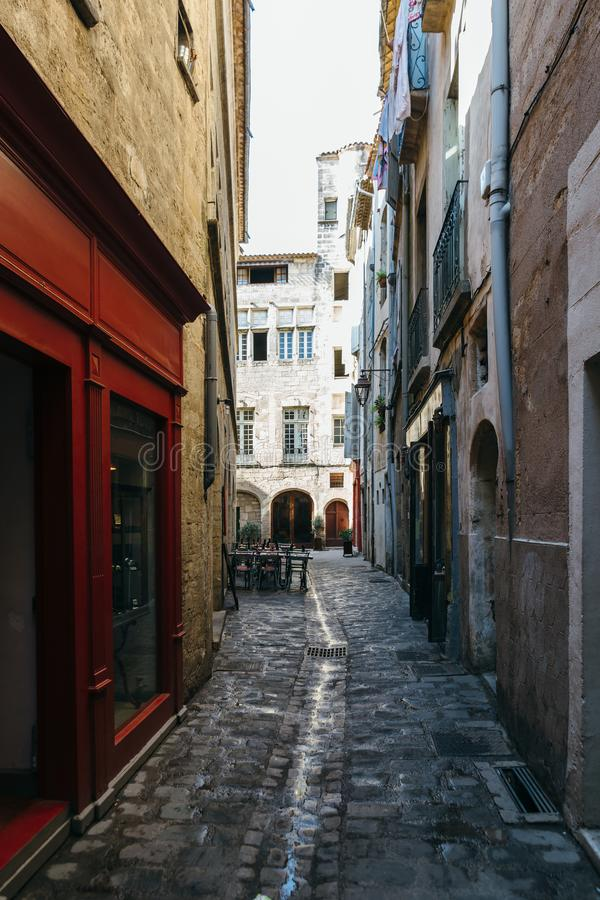 Rues de Pezenas image stock