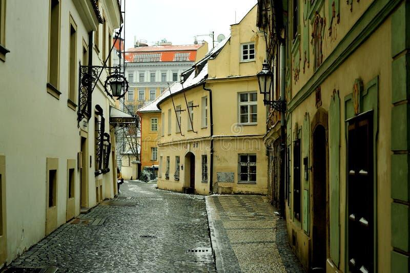 Rues de Prague, République Tchèque image stock