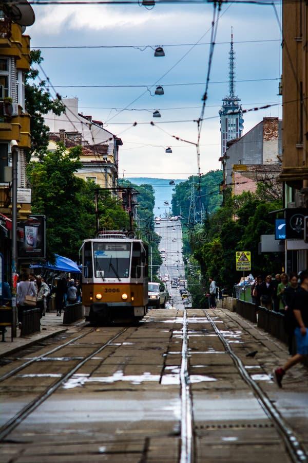 Rues de Sofia pendant l'été photos stock