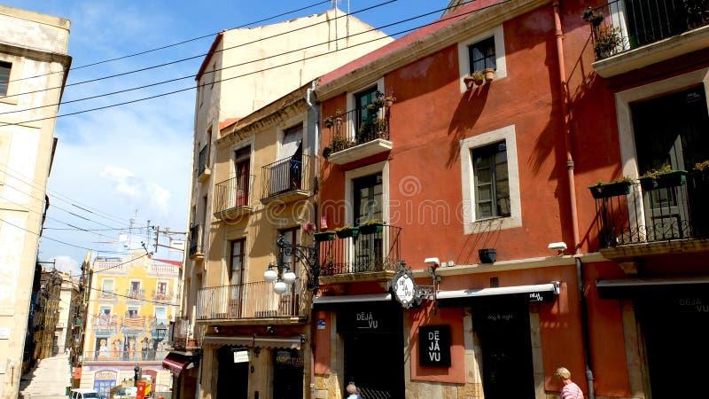 Rues de Tarragone photo libre de droits