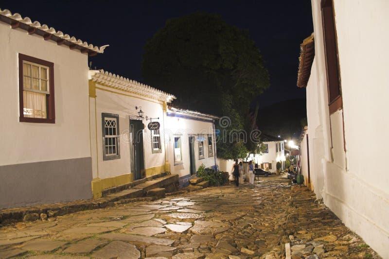 Download Rues de Tiradentes la nuit image stock. Image du ville - 739197