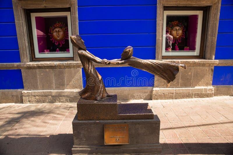 Rues de Tlaquepaque dans Jalisco, Mexique photo stock