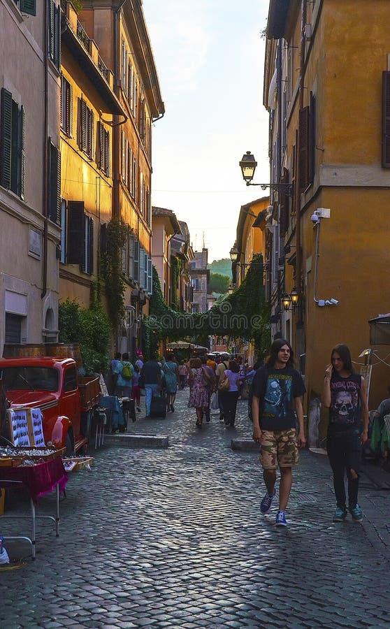 Rues de Trastevere, Rome - Italie image libre de droits