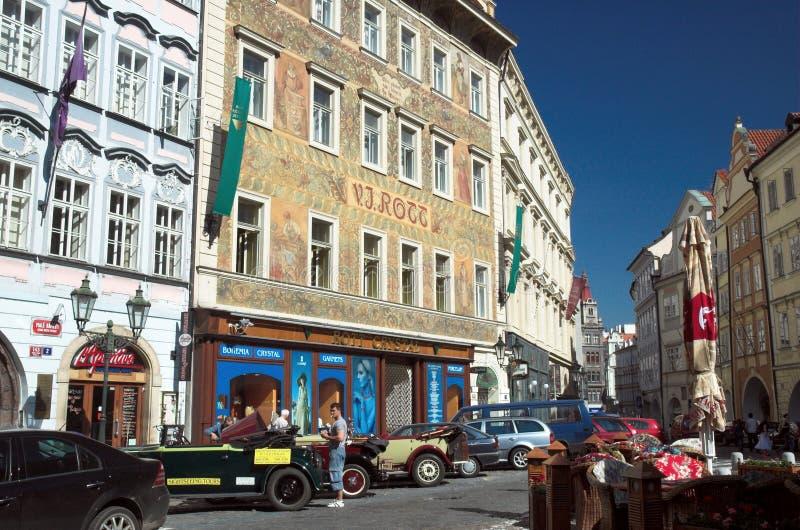 Rues de vieille ville Prague photo libre de droits