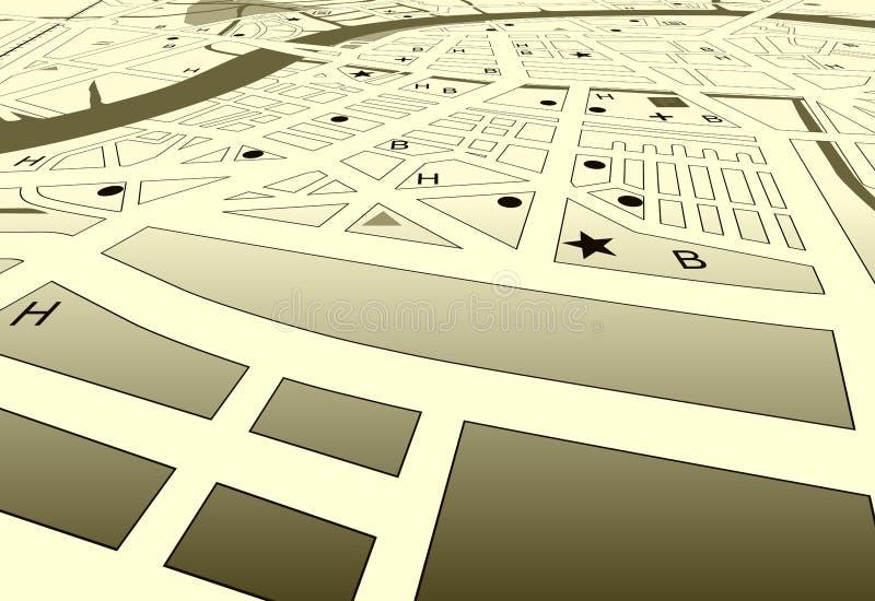 Rues de ville illustration de vecteur