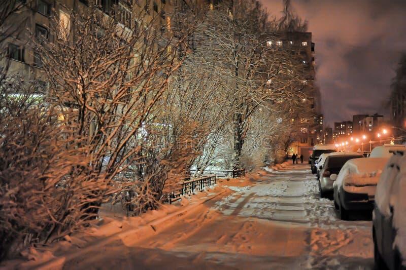 Rues de ville d'hiver photo libre de droits