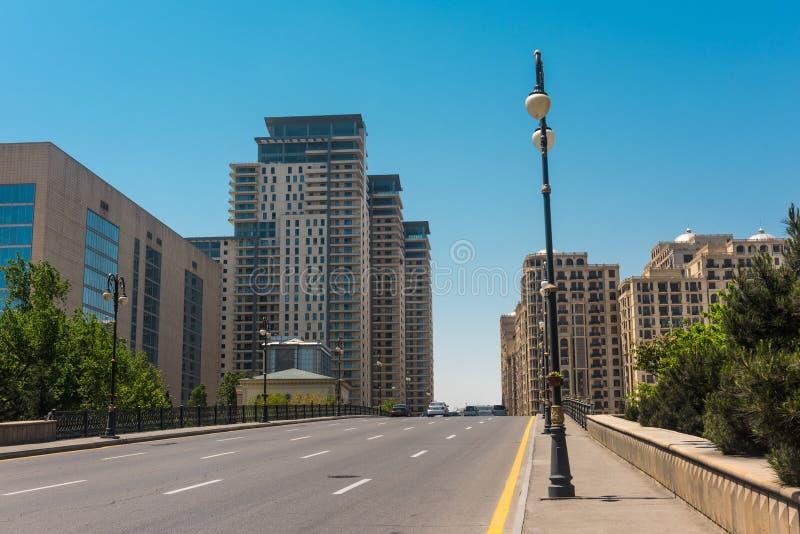 Rues de ville de Bakou images stock
