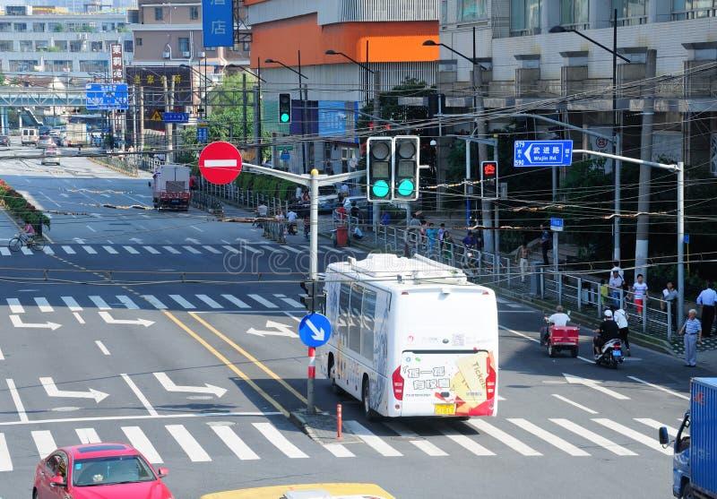 Rues de ville de Changhaï image stock