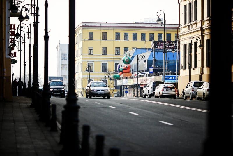 Rues de Vladivostok - la capitale de l'Extrême Orient photos stock