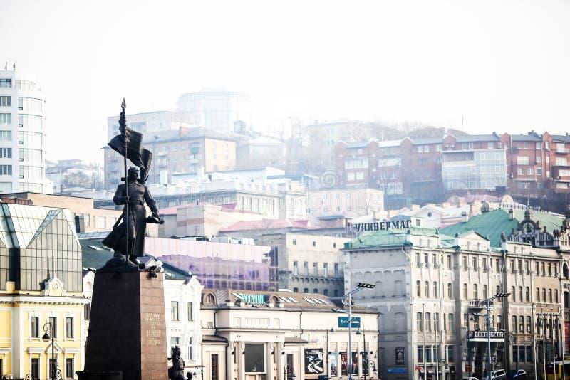 Rues de Vladivostok - la capitale de l'Extrême Orient images libres de droits